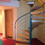 That spiral staircase for the kids