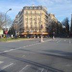Vista externa da rua
