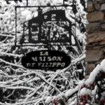 Insegna originale in ferro battuto versione invernale!