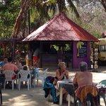 Vue du restaurant de plage, le Cocotier  anciennement, le Paradisio