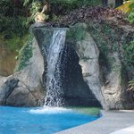 pool waterfall... can sit inside!