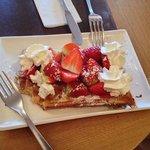 waffles from nearby cafe (soooo yum)