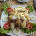 Tuna potato egg salad