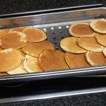 Frisbee's posing as pancakes, be afraid, be very afraid!