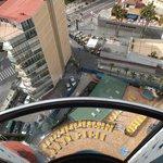 Descending from 17th floor on outside lift
