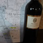 complementary wine and local map