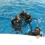Diving the Columbia Reef with dive Master Cesar