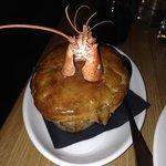 chicken and lobster stargazer pie