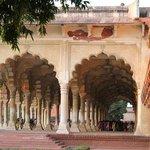 Inside the grand Taj Mahal