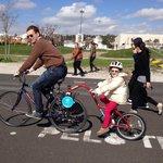 Child clip on bike