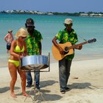 Having fun with beach musicians