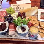 custom platter - gluten free, sheeps cheese, foie gras