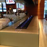 The very cool bar inside the restaurant, Daily Grill