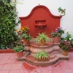 Fountain in the hostel courtyard
