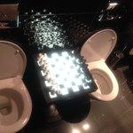 Les toilettes échiquier