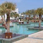 The pool area - nice and warm!
