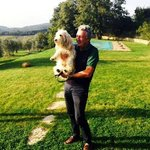 The cutest winery owner with the cutest dog!