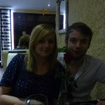 Me and the fiancé (with a borrowed rose!)