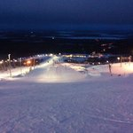 Floodlit slopes at night