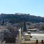 Vista de la Acrópolis desde nuestra habitación