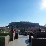 Vista de la Acrópolis desde la terraza