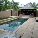 Very private pool in family villa