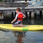 Paddleboarding with my son
