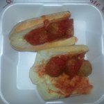 Meatball sub??? in a container? Disgusting