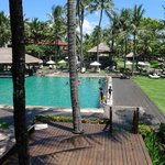 One of the best pool area where they play balinese instrument in the afternoons. Relaxing!