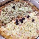 Pizza1/2 atum 1/2 catupiry com milho