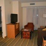 living room in 2 bed room suite