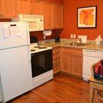 Kitchen area in 2 room suite
