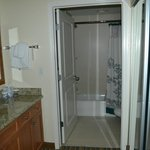 Bathroom of 2 room suite - sink is outside the tub area