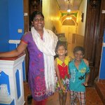 Leena and son and friend