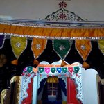 Traditional decoration over the room entrance