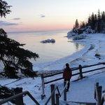 Winter evening on Lake Superior