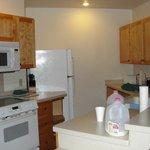 Kitchen in master unit of Poplar River condos
