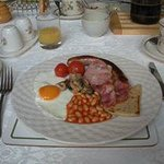 The breakfast that Margaret cooks to order. I believe there was also scones/biscuits