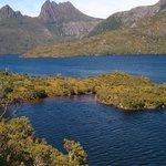 View of Cradle Mountain from Glacier rock