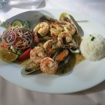 Mussels and Shrimp in Emerald Sauce