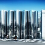 Artist impression of the Govett-Brewster Art Gallery/Len Lye Centre exterior. Paterson Associate