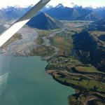 Flying from Queenstown to Milford Sounds