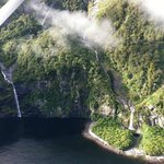Waterfalls all throughout Milford Sounds