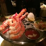 seafood tower appetizer,