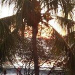 setting sun as seen from upper bar/ restaurant