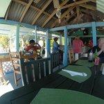 lunch at Debbies beach bar