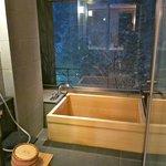 Onsen tub in room