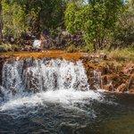 Top pool at Tjaetaba falls near green ant creek