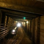 Train inside the salt mine