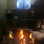 Autour de la cheminée du spa